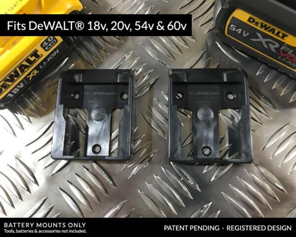 x3 Van or Workshop Shed Belt Clip Wall Mount for DeWalt Cordless Drills