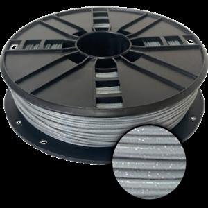 Ampertec 3D-Filament metallic PLA mit Glitzer grau 1.75mm 500g Spule
