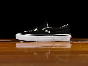 Vans-UA-Classic-Slip-On-Checker-Floral-Black-Men-Shoes-Skate-New-VN0A38F7I5Z