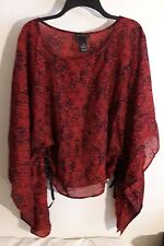 Lane Bryant 14/16 Blouse Top Adjstable Wing Sleeves Plus Sz Shirt  T11