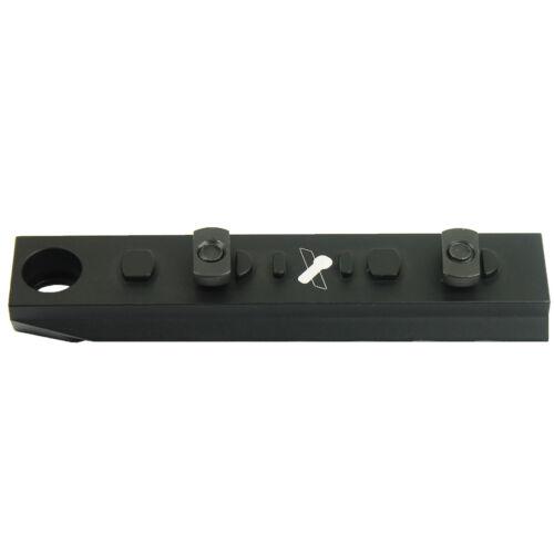 Rail Section 7-Slot Black Picatinny M-LOK Adapter QD with Sling Swivel Provision