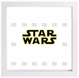 Lego Minifigure Display Case Frame Star Wars lightsabers Empire minifigs