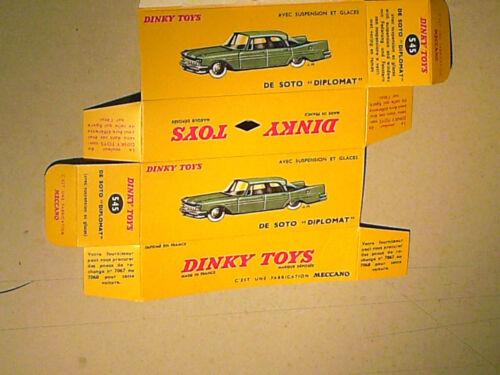 REPLIQUE  BOITE DE SOTO DIPLOMAT DINKY TOYS 1959