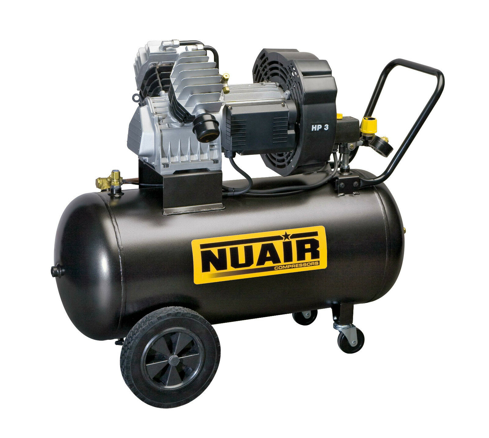 Compressore GVM 100 lt Litri 3 Hp Per edilizia Nuair - Made in italy