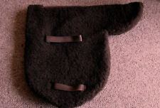 SHETLAND / SMALL PONY / BROWN FAUX SHEEPSKIN SHOW / STRAIGHT CUT UNLINED NUMNAH