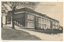 High School Building in DUNCANNON PA Vintage Perry County Pennsylvania Postcard
