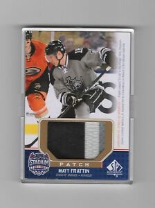 2014-15 SP Game Used Matt Fraction Stadium Series 3 Color Patch  SS ... 27a90a305