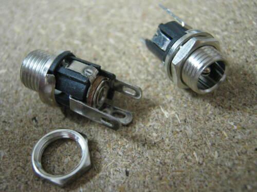 2.1 x 5.5 mm power jack connecteur d/'alimentation Chargeur Socket DC FEMELLE Panneau Mount rohs