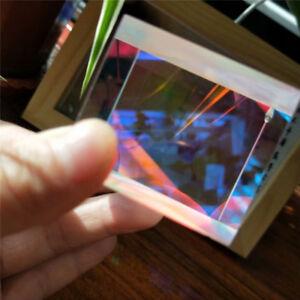 2PCS 3.6X3.6X3.4cm Defective Cross Dichroic Combiner&Splitter X-cube Glass prism