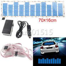 70x16cm Car Sticker Glow Rhythm Blue LED Flash Light Sound Activated Equalizer
