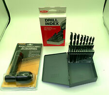 Bundle Enkay Drill Chuck 90 Degree 425 Amp 21 Pc Drill Set 116 To 38 Huot Case