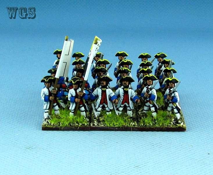 15mm Syw Seven Years War un Pintado francés 26th Regimiento Royal vaisseaux Fa13