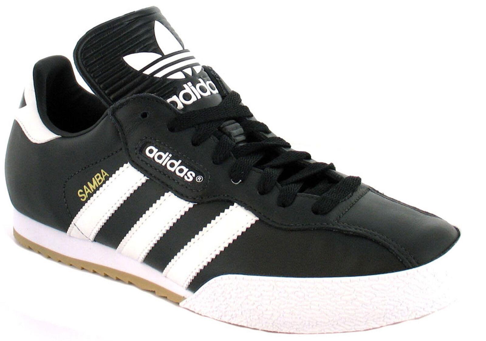 New Adidas Samba Super hommes Original Noir Leather Trainers UK