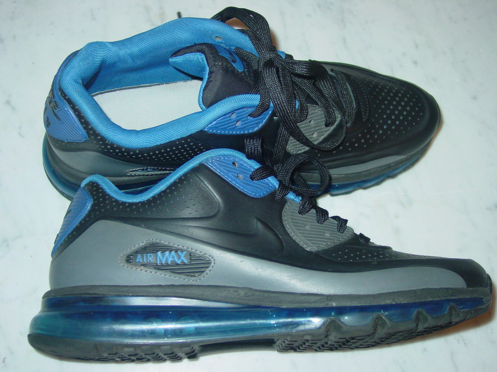 2014 Mens Nike Air Max 90 2014 LTR QS BlackBlue Running Shoes! Size 9