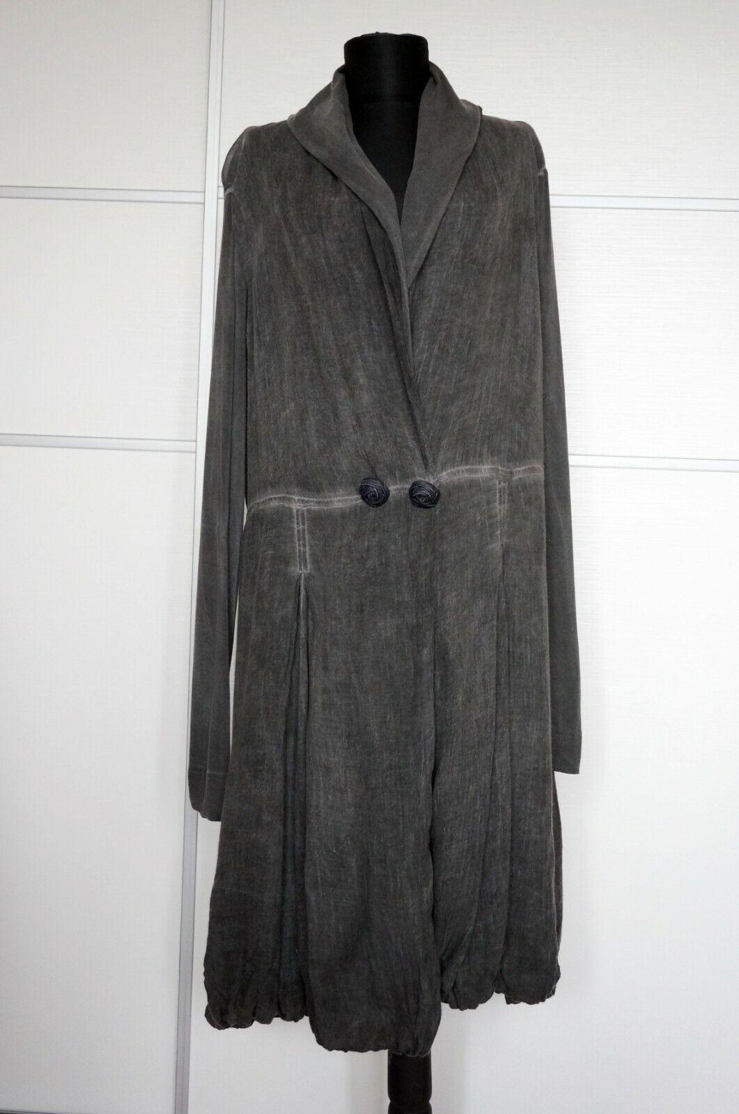 Elisa Cavaletti Grey Light Summer Coat, Size XL