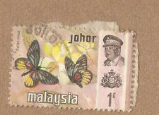 Ori mounted on envelope  Johor butterfly  stamp:  1c