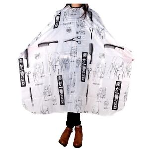 Adult-Salon-Barber-Gown-Cape-Hairdressing-Hairdresser-Hair-Cutting-Cloth-Black-T