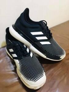 Adidas Solecourt Boost M Men S Black Tennis Shoes Stefanos Tsitsipas Ebay