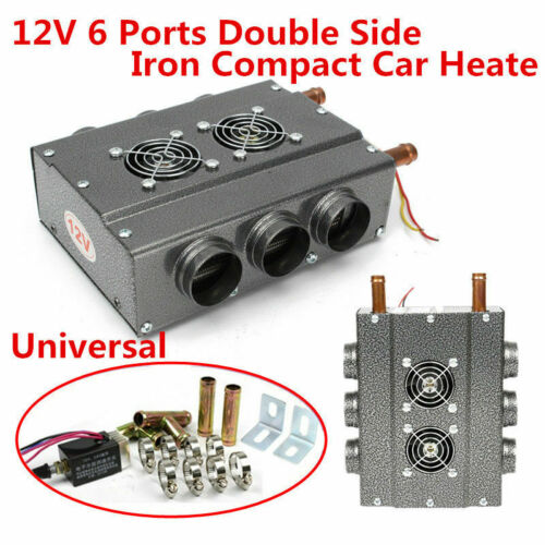 Universal 6 Ports 12V Double Side Iron Compact Heater Heat w// Speed Switch