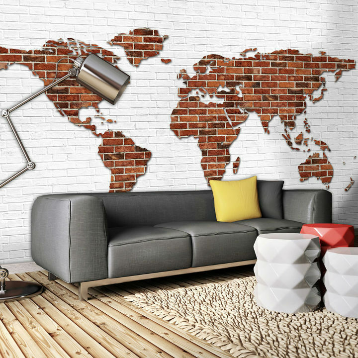 Photo Wallpaper MAP OF THE WORLD Wall Mural (2853VE)