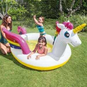 Details about Intex Mystic Unicorn Inflatable Baby Spray Swimming Pool