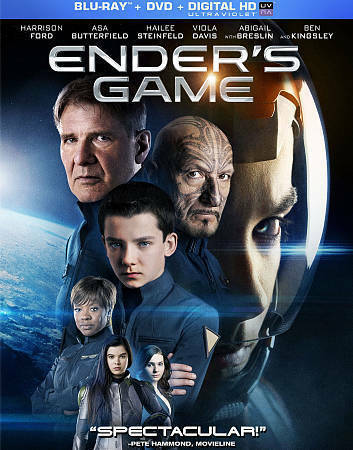 Ender s Game Blu-ray - Blu-ray By Harrison Ford,Abigail Breslin - VERY GOOD - $1.48