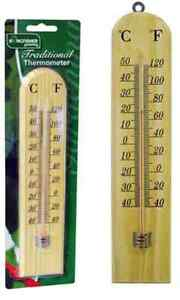 Termometro da giardino tradizionali in legno con montaggio a parete C & F lettura gsth 02  </span>