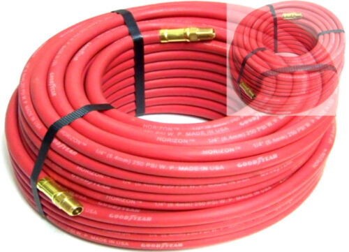 """2 new 100Ft 1//4/"""" continental Rubber Air Hose"""