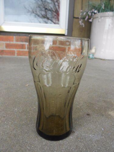 Coca Cola Coke McDonald/'s DRINKING GLASS  Smoke Colored  Bell Shape