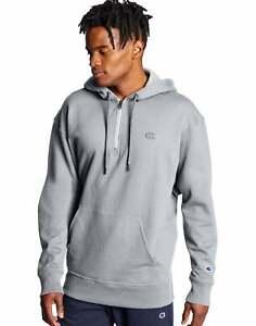 Hoodie-Sweatshirt-Champion-Men-039-s-Powerblend-Fleece-Quarter-Zip-Embroidered-Logo