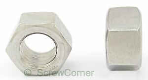 Sechskantmutter-10-32-UNF-A2-Edelstahl-Hex-Nut-10-32-UNF-A2-Stainless-Steel