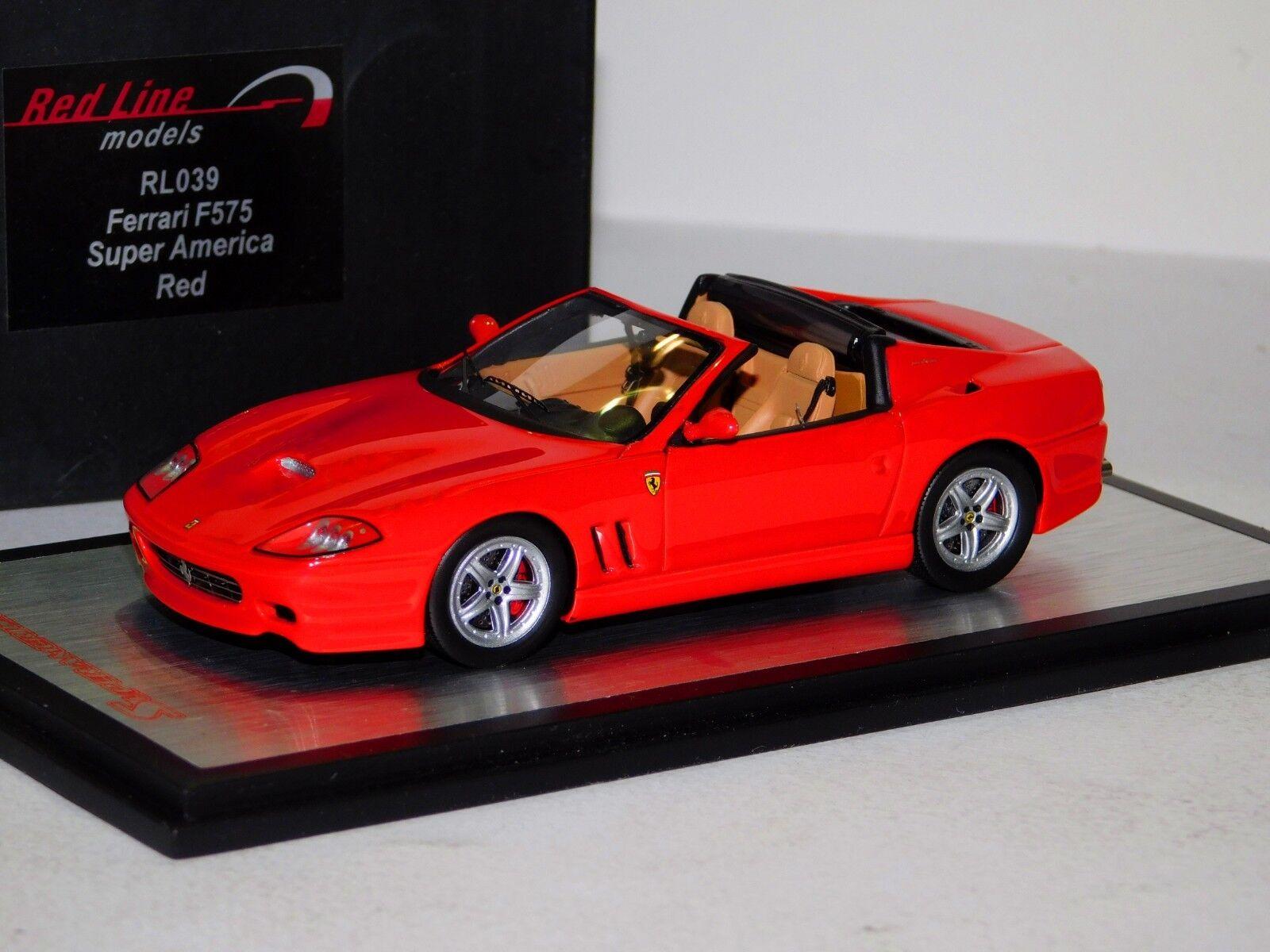 Ferrari f575 super america rote rotline rl039 1 43