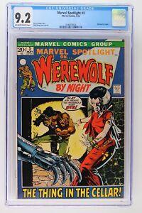 Marvel Spotlight #3 - Marvel 1972 CGC 9.2 Werewolf by Night.