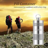 Pill Container Tablet Storage Bottle Survival Kit Titanium Alloy Box V3l8