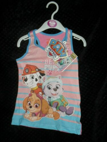 NICKLEODEON BRAND NEW GIRLS PAW PATROL  PINK VEST TOP AGE 5 YEARS