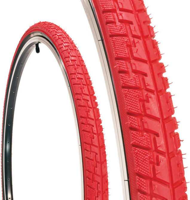 PAIR of TIRES Kenda  Messenger K-830  700c x 38mm  Wire Bead, All Red