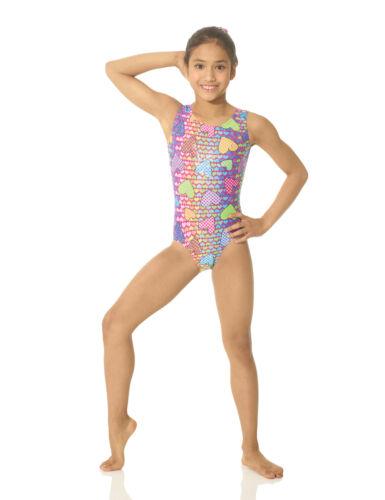 Gymnastics Sleeveless Leotard for Girls Matalic Material