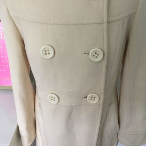 Laura Cream 14 Uk Wool coat cashmere Beautiful Formato Jacket Ashley HHrwxzqO