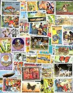 NIGER collections de 50 à 600 timbres différents