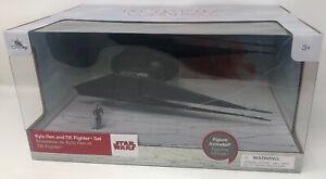 "NEW Disney store Kylo Ren and TIE Fighter Ship Star Wars The Last Jedi 11"" L"