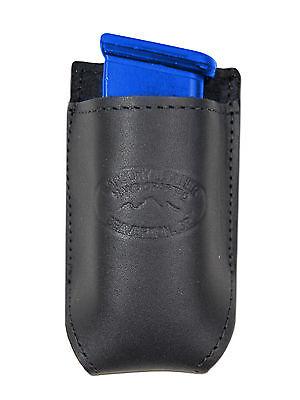 NEW Barsony Black Leather Single Magazine Pouch Kel-Tec Sccy Kimber Comp 9mm 40