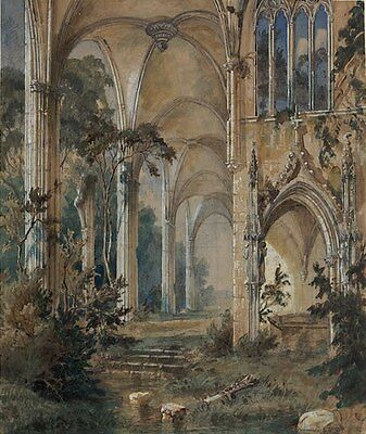 Gothic Church Ruin Carl Blechen 1831 Art Photo/Poster Repro Print Many Sizes