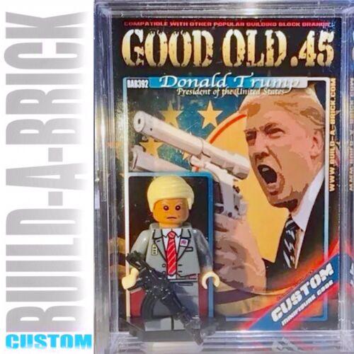 Donald Trump Custom Mini Action Figure w DISPLAY CASE /& STAND 392b Mini-Figure