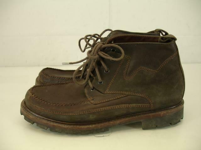 Cole Haan Mens 7.5 M Genuine Handsewn Brown Leather Ankle Boots Lace-Up Desert