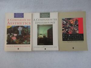 Lot-of-3-BLACKWELL-COMPANIONS-TO-PHILOSOPHY-Aesthetics-Epistemology-Softcovers