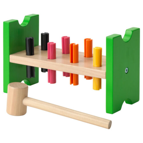 Holzspielzeug Baby IKEA MULA Hammerblock Lernspielzeug Motorikspielzeug Hämmerspiel NEU & OVP