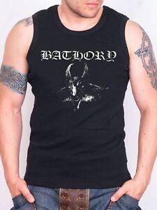 Größe 40 b77e9 5b143 Details zu BATHORY LOGO Tank Top Men Black Rock Athletic Vest Rock Band  Shirt