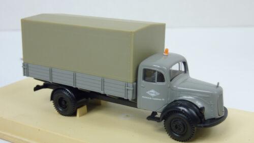 """Brekina 1:87 4002 mercedes-benz l311 tablillas-camión /""""meg/"""" en embalaje original a951"""