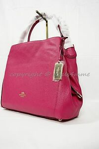 b47e1bb2bc Coach 36464 Edie Shoulder Bag 31 In Refined Pebble Leather in Light ...