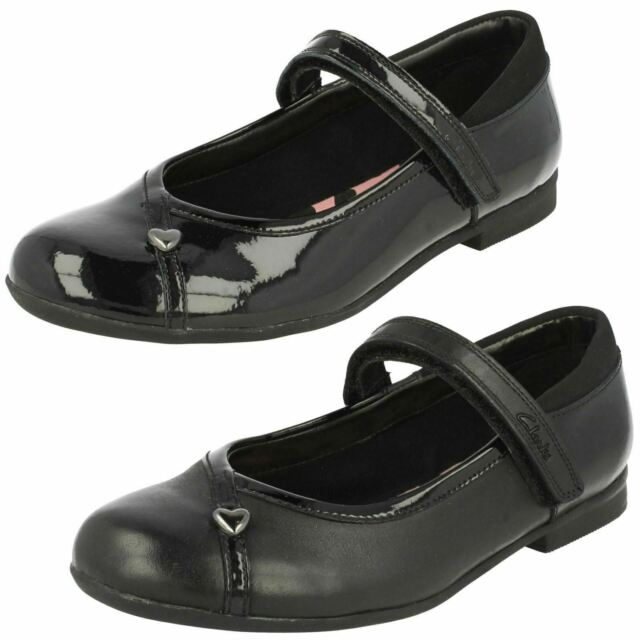 CLARKS MOVELLO LO GIRLS SCHOOL SHOES